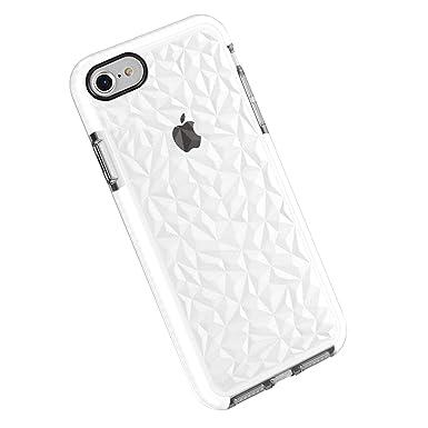 Funda iPhone 6 6s Plus, Carcasa Silicona Transparente Protector TPU Airbag Anti-Choque Ultra-Delgado Anti-arañazos Case 3D Modelo Geométrico de ...