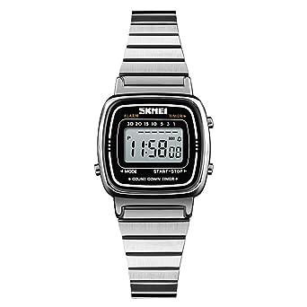 Amazon.com: Reloj de cuarzo para mujer, clásico, simple ...
