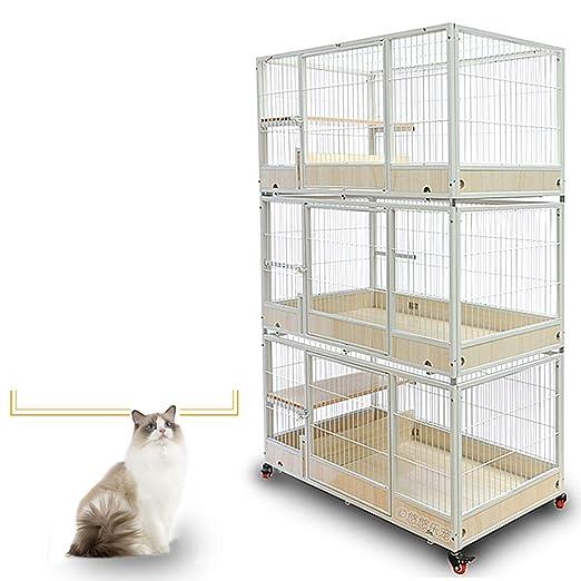 XIAOHAOYU Gato Kennelscat Jaula de cría del Tubo del Gato Jaula ...