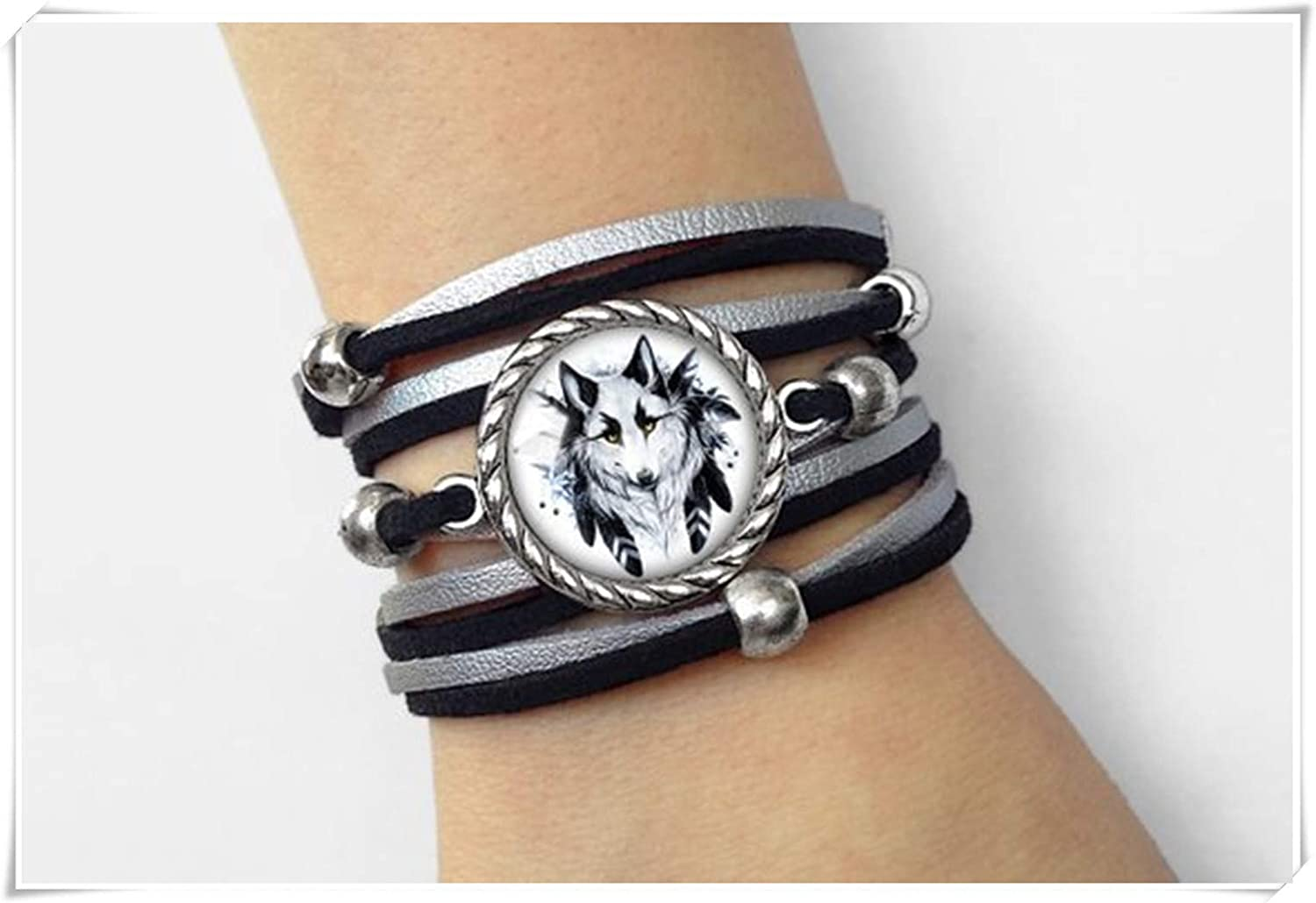 Leonid Meteor Shower Wolf Bracelet, Pure Hand-Made, Glass Ornaments, Simple and Elegant Bracelets. CE45