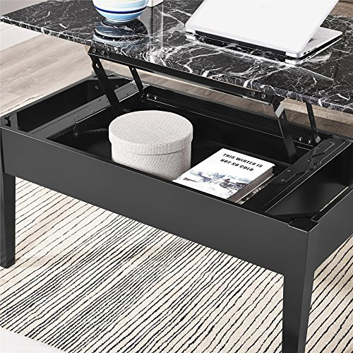 Dorel Asia Faux Marble Lift Top Coffee Table Espresso: Dorel Asia Faux Marble Lift Top Coffee Table