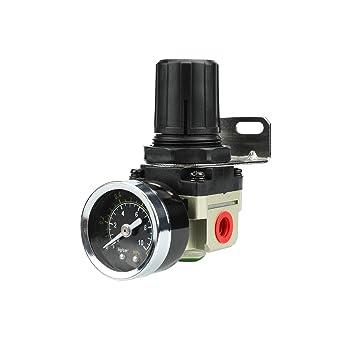 Regulador de presión reductor de presión de alta calidad para compresor de aire comprimido, 1/4 de pulgada: Amazon.es: Bricolaje y herramientas