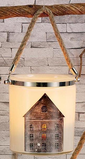 Hoff Interieur Windlicht MAISON aus Glas 17cm: Amazon.de: Küche ...