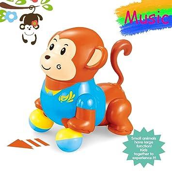 Juguetes musicales del mono del canto del baile para el niño del bebé 5,3