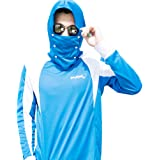 POKEE Sun Protection Clothing Hoodies Anti-UV UPF40 and Ultra-thin Breathable Detachable Mask for Fishing Outdoor