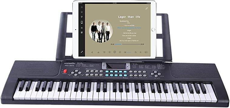 Foxom Piano Infantil, 61 Teclas Piano Electrico Teclados con ...