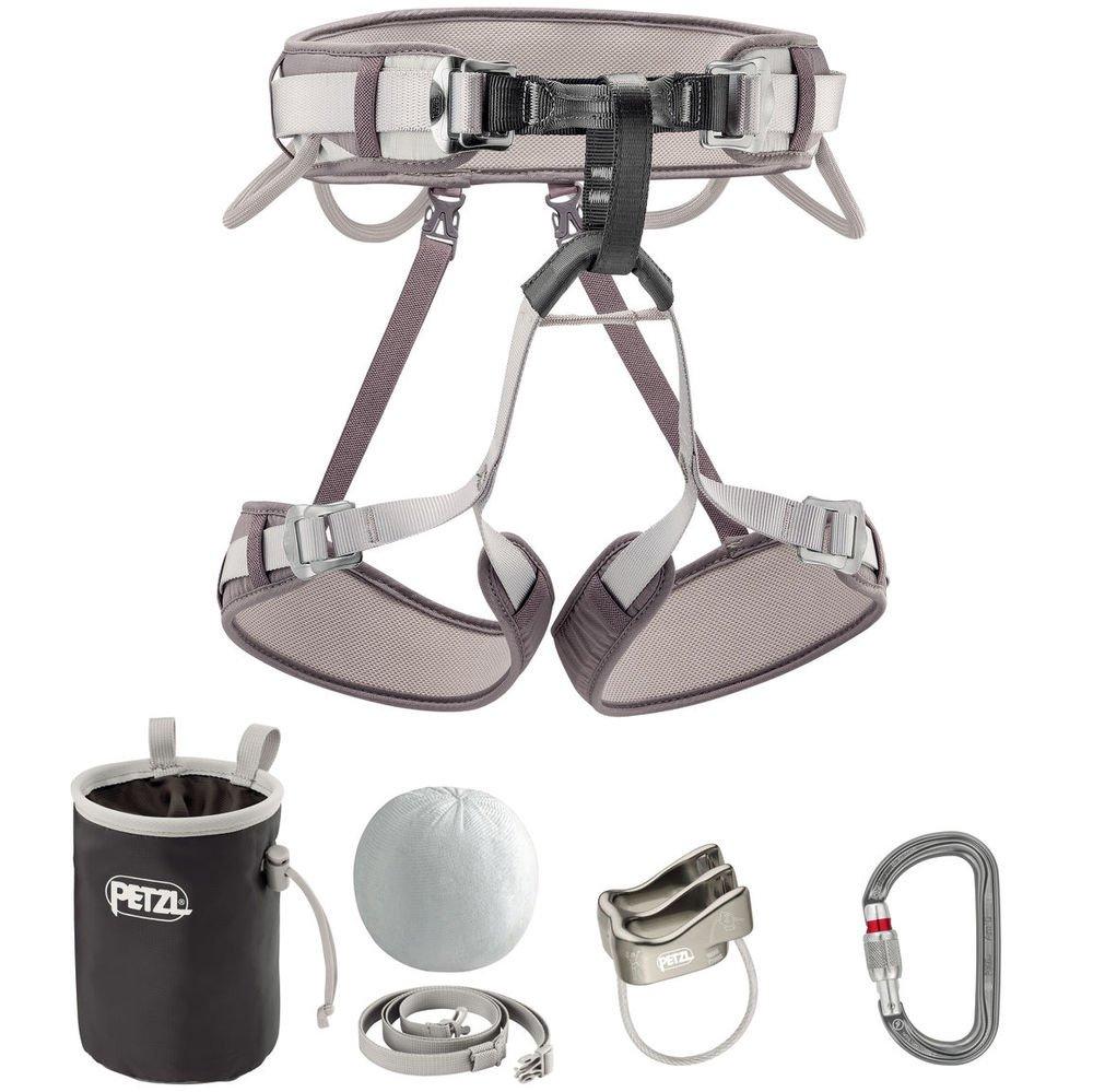 PETZL - Kit CORAX, Climbing Kit Containing CORAX Harness, Size 2, Grey