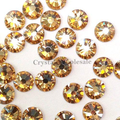 144 Swarovski 2028 / 2038 16ss HOTFIX crystal flatbacks ss16 CRYSTAL GOLDEN SHADOW A HF