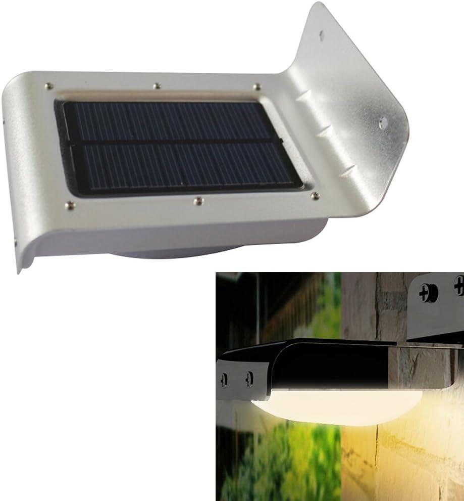 16 ledes Sensor de movimiento horizontal de Garden Sensor de sonido lámpara luz Led lámpara de pared de focos para exterior resistentes al agua: Amazon.es: Iluminación