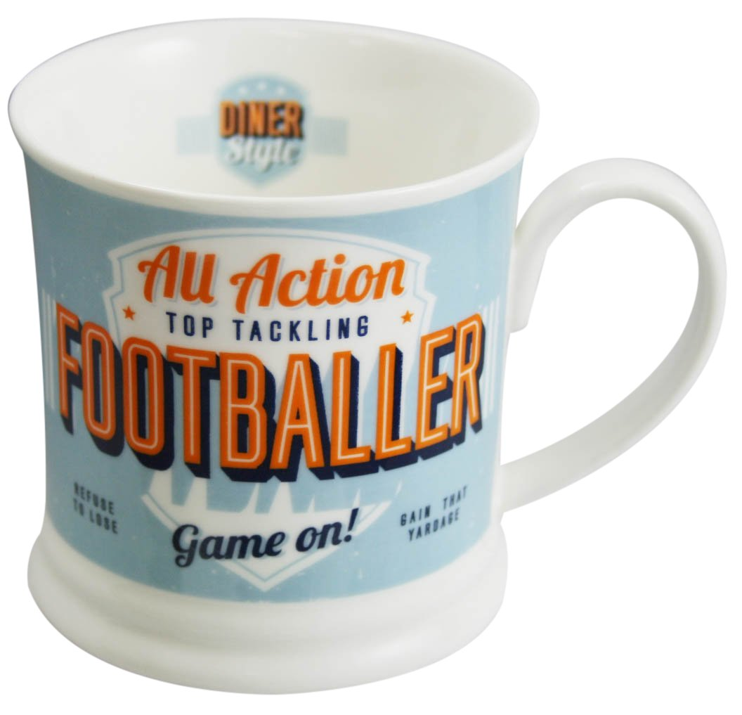 Pale Blue Diner Mugs 195000141Footballer USA Mug