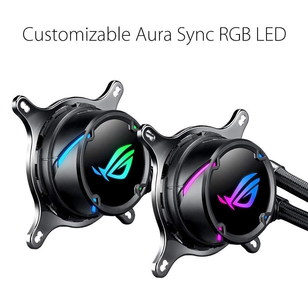Aura Sync avec /éclairage Addressable RGB ROG STRIX LC 240 RGB Cooler CPU All-IN-One ROG Rev/êtement de Pompe Ncvm et Ventilateur de Radiateur ROG