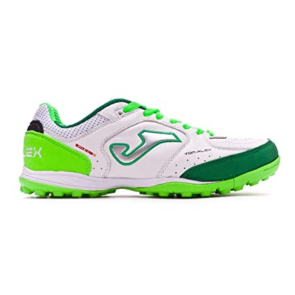 Amazon.com  Joma Shoe Calf Boots TOP Flex Turf Tops 815 Bianco-Fluo ... c7e4eef176c7a