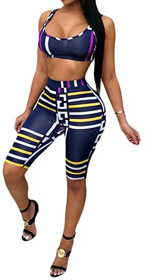 Amazon.com: Bravepe Womens Print Crop Tank Top Leggings ...