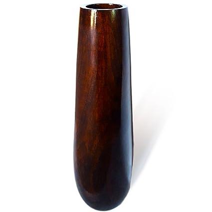 Amazon Roro 14 In Handmade Brown Stained Glossy Mango Wood Vase