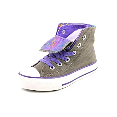 b5b84cd5b3b58f Converse CT Two Fold Hi Charcoal Kids Trainers 1 US
