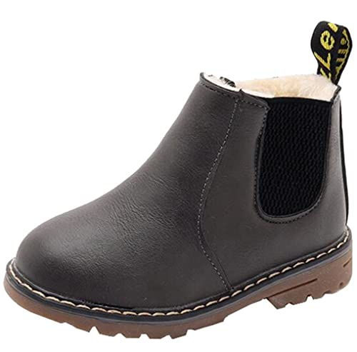a1f516c54 DADAWEN Baby's Boy's Girl's Waterproof Side Zipper Fur Lined Short Ankle  Boot (Toddler/Little Kid/Big Kid) Gray US Size 2 M Little Kid:  Amazon.co.uk: Shoes ...