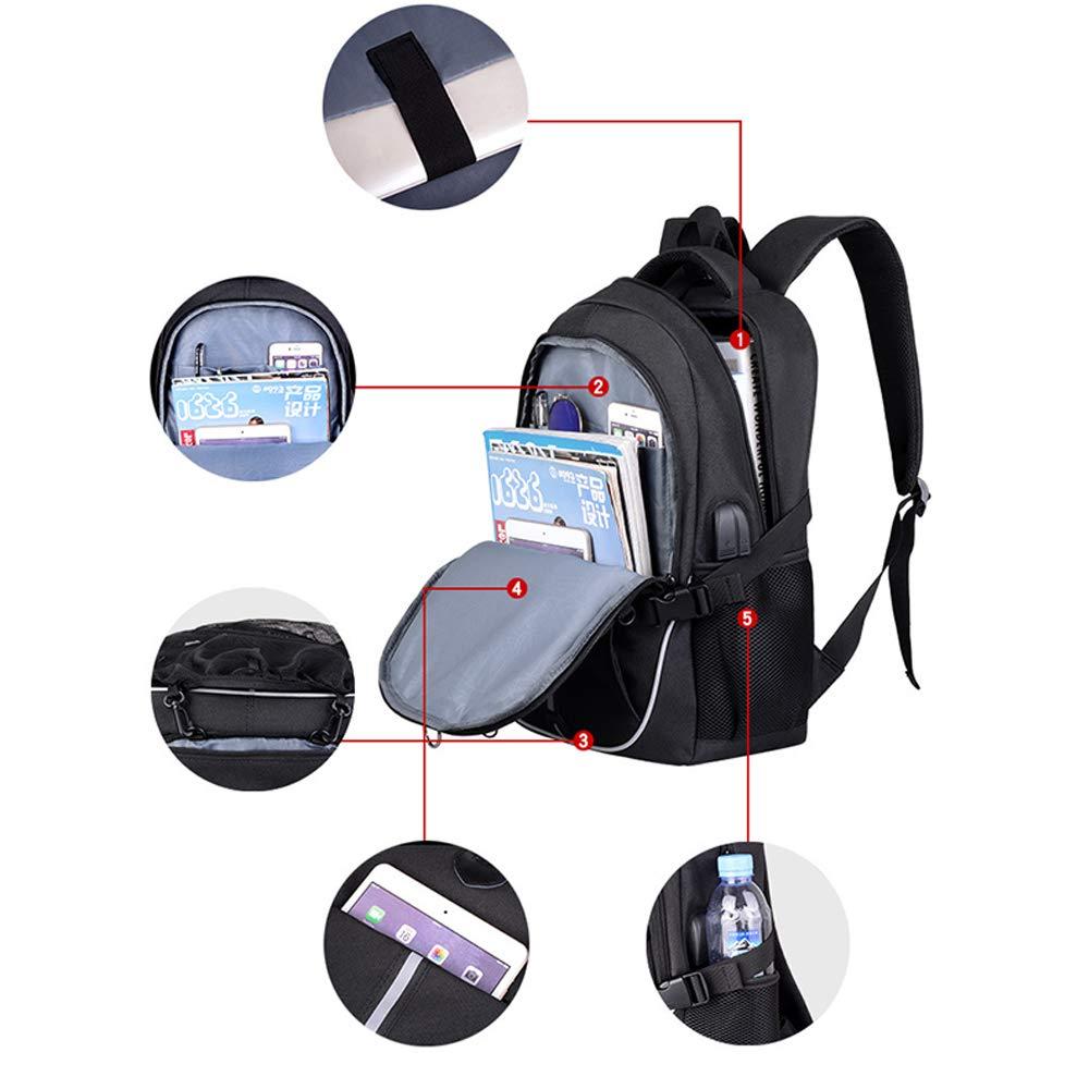 Belingeya Basket zaino USB ricarica per la scuola impermeabile 39,6/cm portatile con palla net