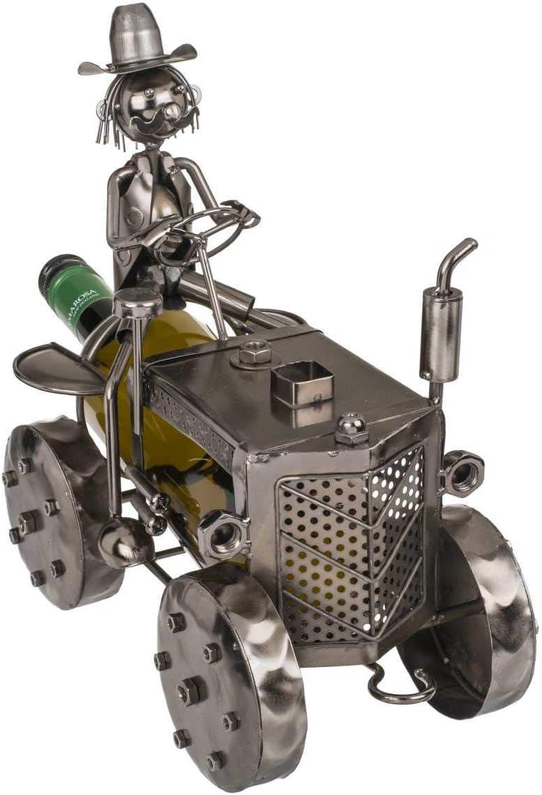 ootb Flaschenhalter 25 x 22 cm Metall Traktor