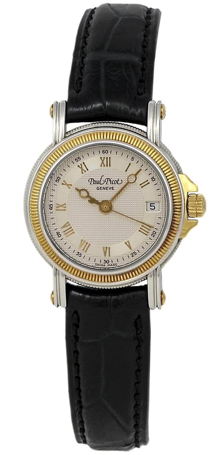 Paul Picot Atelier Quartz Stainless Steel & 18kt Gold Womens Luxury Strap Watch Calendar 5013