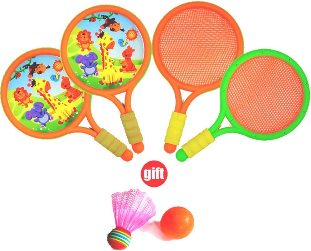 outdoor fun parent-child play ball game NOQ Childrens EVA handlebars tennis racket and PVC badminton racket