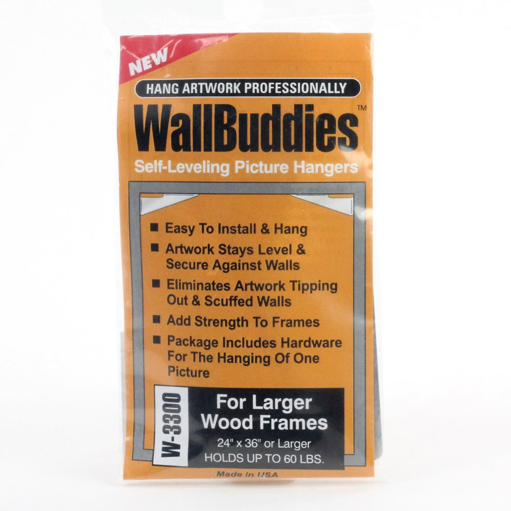 Wall Buddies Hanger for Large Wood Picture Frames - Set of 3 ...