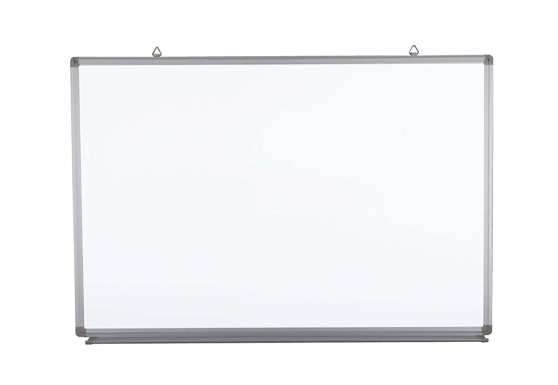 Pizarra blanca magnética con marco de aluminio y estante ...