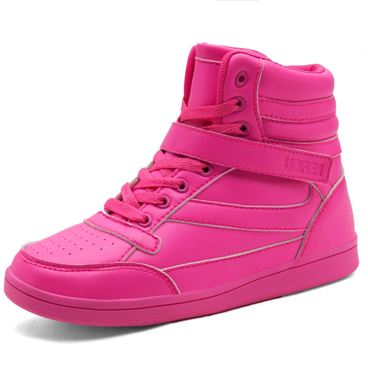 UBFEN Hidden Wedges 5.5cm Women Backpacking Boots High Top Shoes Fashion Sneakers Casual 4.5 M US Pink by UBFEN