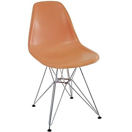 Amazon Com Orange Charles Ray Eames Eiffel Dining Side Chair