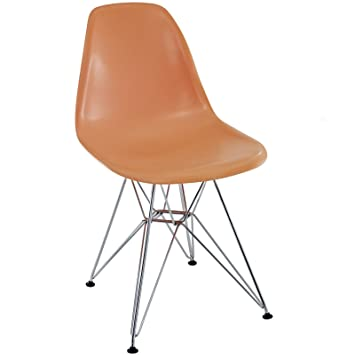 Herman Miller Eames DSR Style Molded Plastic Eiffel Side Chair (Orange)