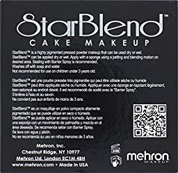 Mehron Makeup StarBlend Cake Makeup MONSTER GREY – 2oz