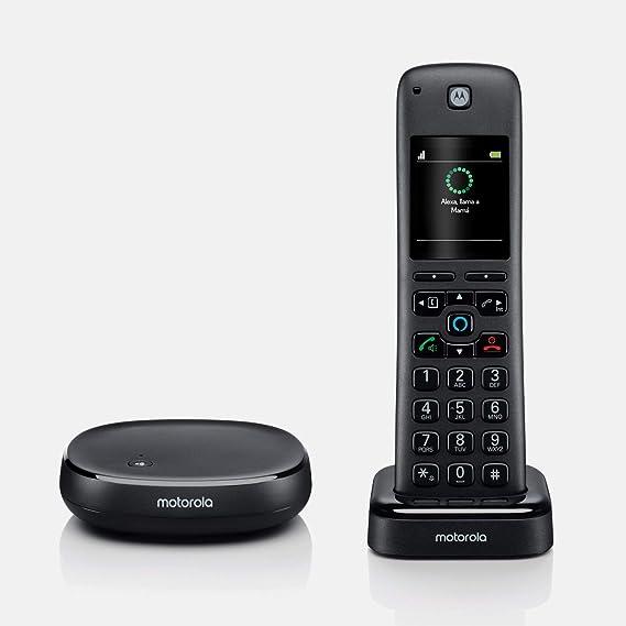 Teléfono inalámbrico Alexa Motorola AXH01: Amazon.es: Electrónica