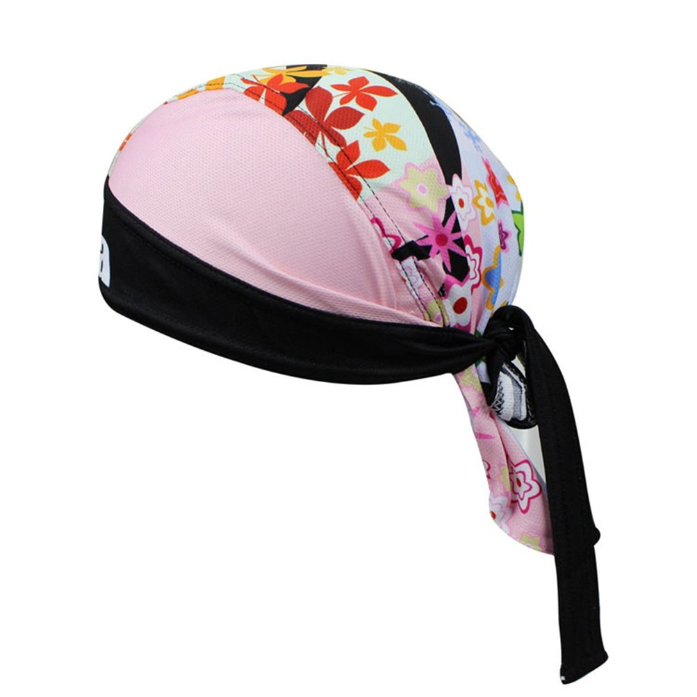 Uriah Women's Cycling Cap Polyester Head Wrap Branch Leaves
