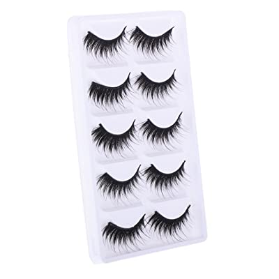 Jili Online 5 Pairs Black Fake Long Eyelashes for 12'' Neo Blythe Doll Customize Use ACCS: Toys & Games