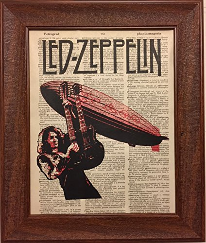 (Ready Prints Led Zeppelin Music Band Quote Dictionary Book Page Artwork Print Picture Poster Home Office Bedroom Nursery Wall Decor - unframed)