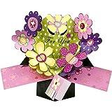 "Second Nature - Tarjeta de felicitación desplegable, diseño de flores y texto ""For you"""