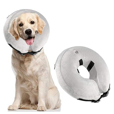 POPETPOP Cuellos de Recuperación Cicatrización para Perros y Gatos, Collares Inflables de Perros, Collares Protector Curativo para Cirugía Después de ...