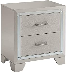 Signature Design by Ashley Lonnix Nightstand, Silver
