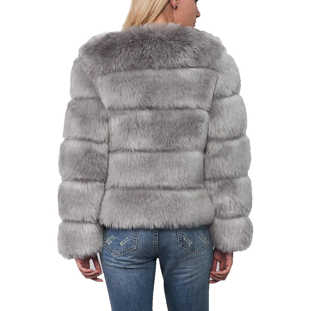 DEATU Womens Short Coat, Ladies Teen Girls Warm Faux Fur ...