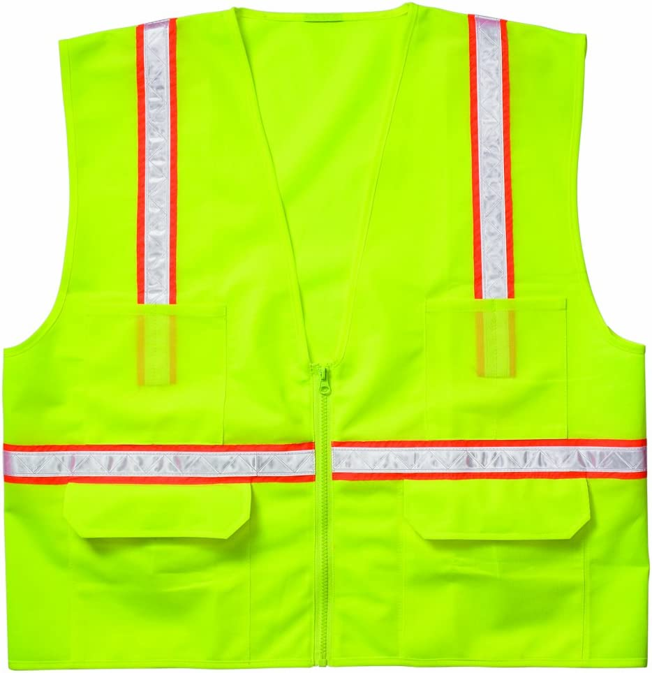 Lime CLC Custom Leathercraft SV143X Economy Surveyors Vest 3XL