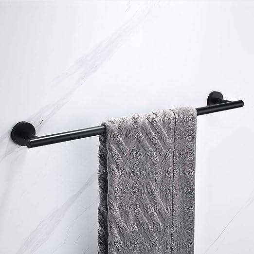 Celbon Portasciugamani Da Parete in Acciaio Inox SUS304 con Supporto in Acciaio Nero Porta salviette a parete per Bagno e Cucina