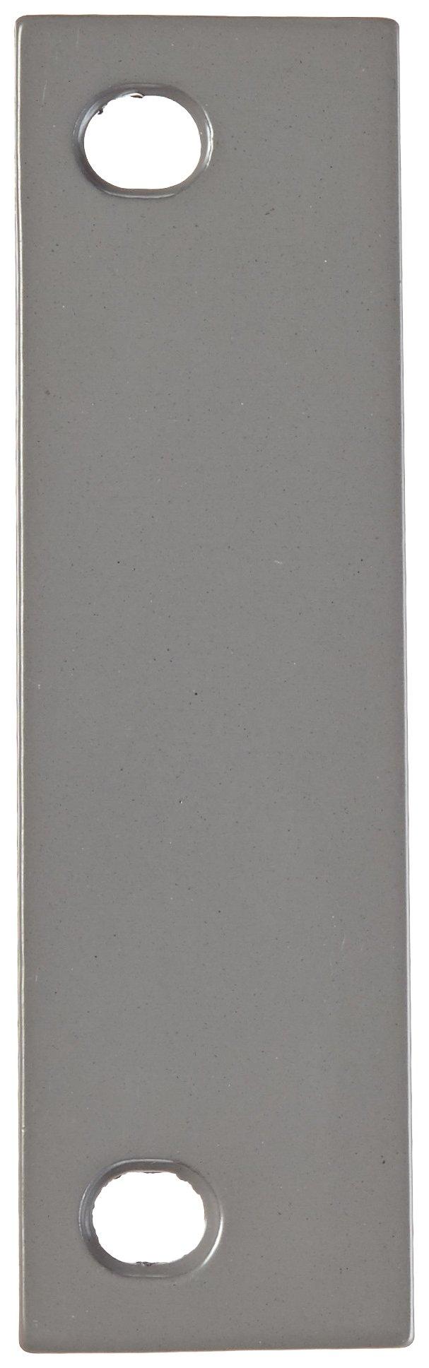 Rockwood DHF5B Steel Beveled Door Hinge Filler Plate, 1-1/2'' Width x 5'' Height, Prime Coat Finish (Pack of 25)