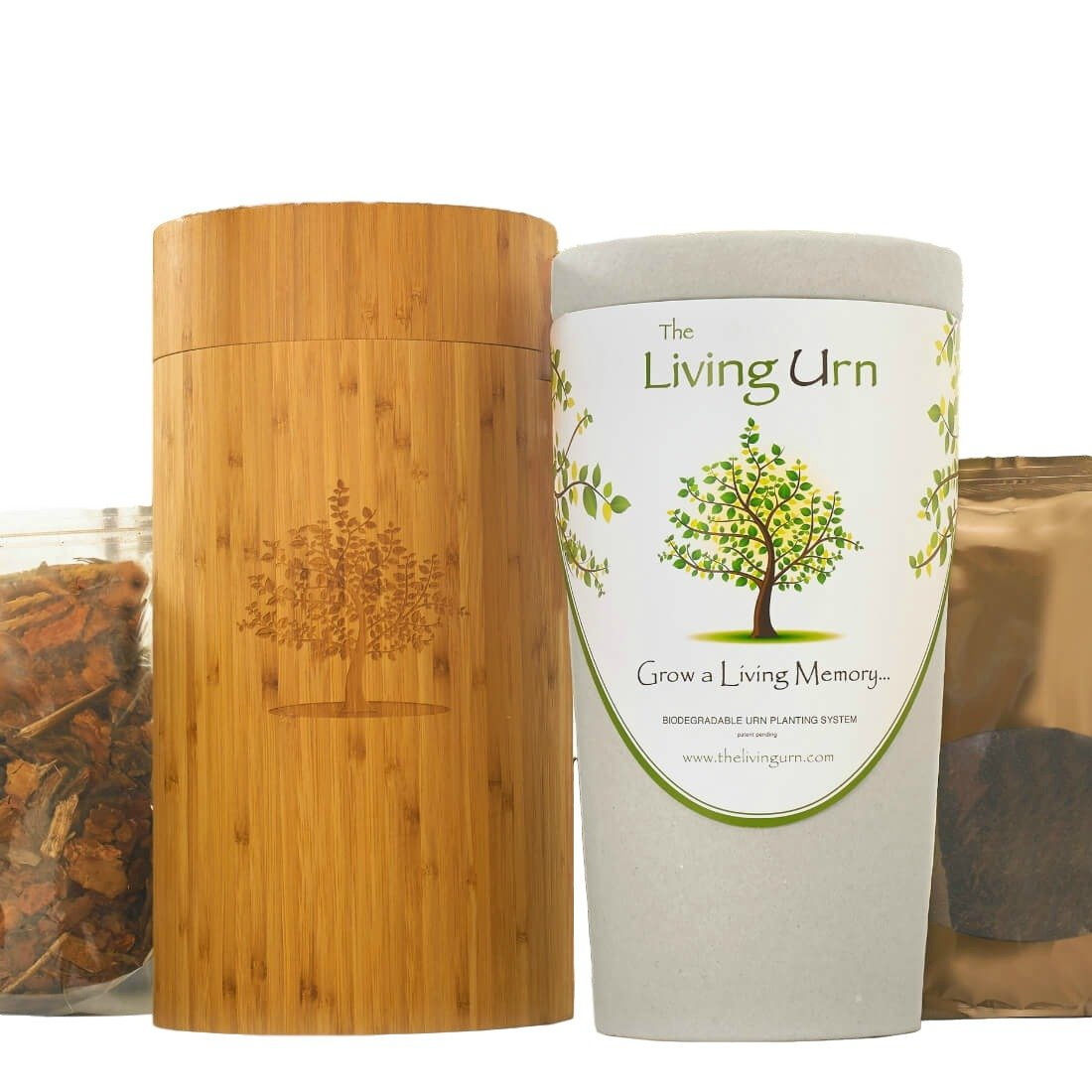 The Living Urn Bio Urn and Planting System for People. Grow a Living Memory Tree, Plant, or Flowers from the Ashes of a Loved One. 100% Biodegradable (this version does not come with a tree seedling) by The Living Urn for People
