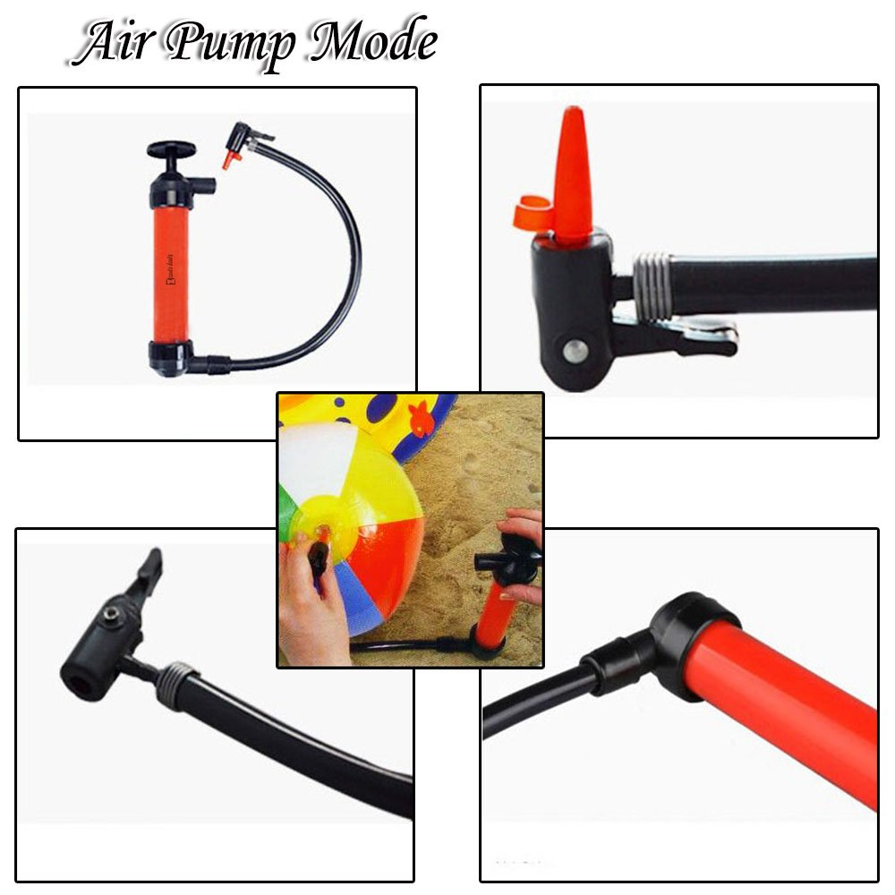 Zento Deals 3-in-1 Hand Siphon Pump Gas/Liquid/Air Manual Travel Emergency Vehicle Pump by Zento Deals (Image #4)