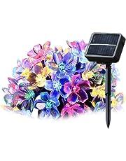 SALCAR Solar LED Cadena de luz, 5m, 20ledes Flores de Cerezo iluminación Decorativa Decoración para el hogar, Exterior, Jardín, Bodas, Navidad