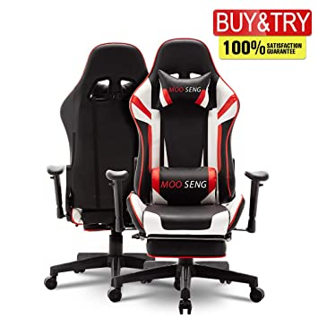 Stupendous Video Gaming Chair Racing Office Pu Leather High Back Ergonomic 180 Degree Adjustable Swivel Executive Computer Desk Task Large Size With Ocoug Best Dining Table And Chair Ideas Images Ocougorg