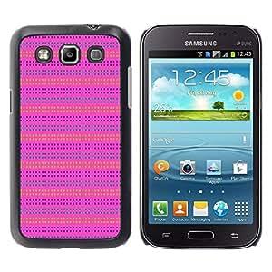 Paccase / SLIM PC / Aliminium Casa Carcasa Funda Case Cover - Pink Purple Pattern Lines Summer - Samsung Galaxy Win I8550 I8552 Grand Quattro