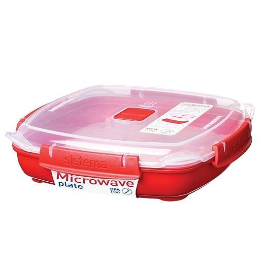 Sistema Plato de microondas to go, aprox. 0.88 L, Rojo, con ...