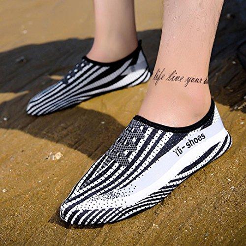 BBring Wasser Schuhe Surfschuhe Badeschuhe Wasserschuhe Sommer Schnell trocknend Schwimmschuhe Slip on Aquaschuhe Strandschuhe für Damen Herren für Strand Pool Surf Yoga Übung Weiß