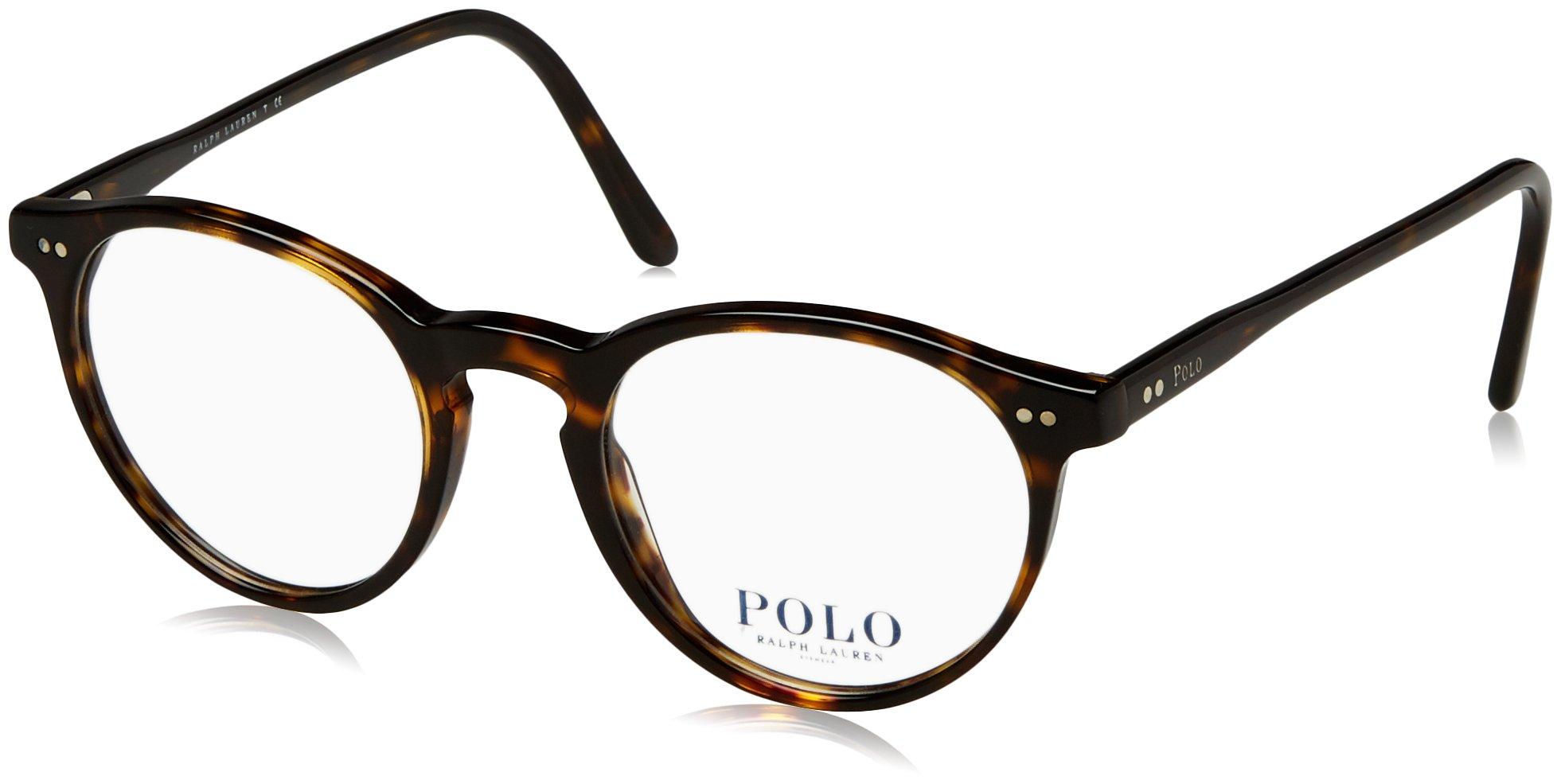 Polo PH2083 Eyeglass Frames 5003-48 - Shiny Dark Havana PH2083-5003-48