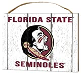 KH Sports Fan 4'' x 5.5'' Florida State Seminoles Weathered Logo Small College Plaque